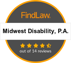 Midwest Disability, P.A. Attorney Rating Badge. 4.5 out of 14 reviews.
