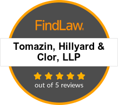 Tomazin, Hillyard & Clor, LLP Attorney Rating Badge. 5.0 out of 5 reviews.